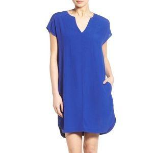 Madewell Royal Blue Du Jour Tunic Dress